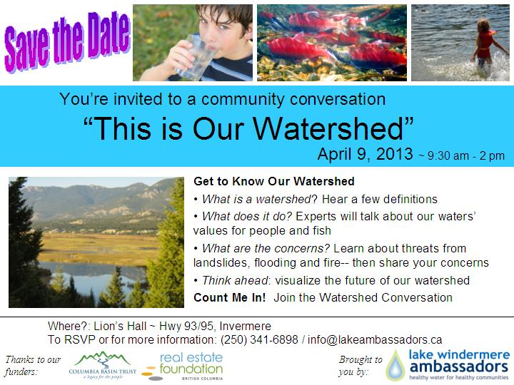 Join the Watershed Conversation, April 9th