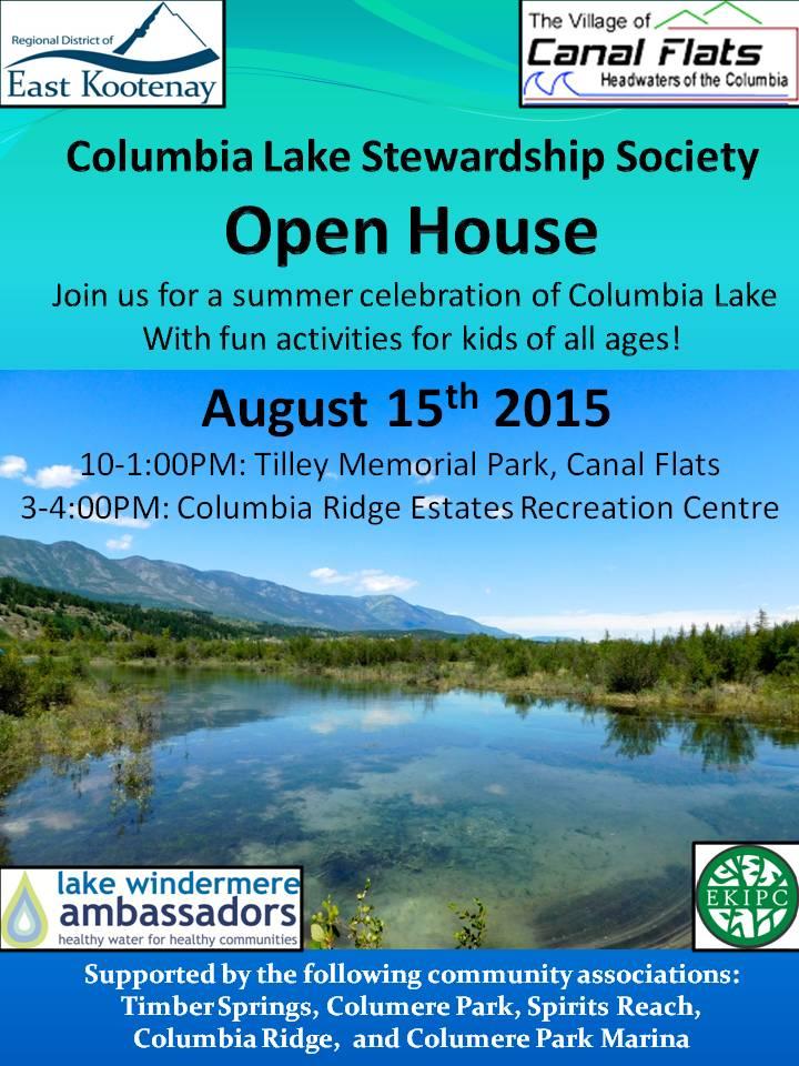Open House ~ Columbia Lake Stewardship Society