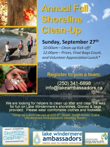 Fall ShorelineCleanup Sept 27 2015