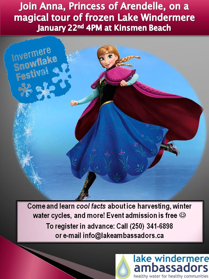 Don't miss a magical tour of frozen Lake Windermere with Anna, Princess of Arendelle!