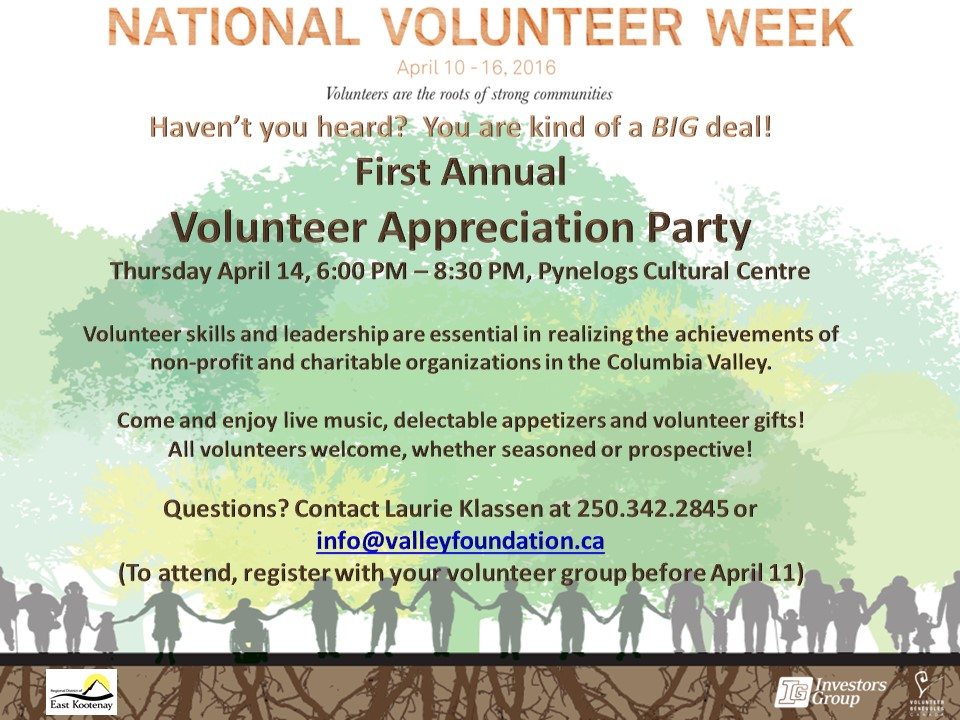 Event Poster for Volunteers
