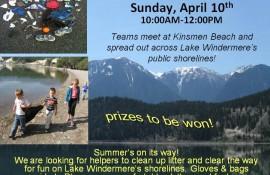 Spring Shoreline Clean Up: April 10th!